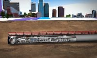 城市建设之地铁地下隧道:三维建筑施工动画制作
