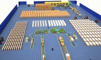工厂全智能生产流水线:工业生产线三维演示动画制作